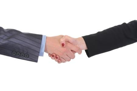 Handshake men and women. photo