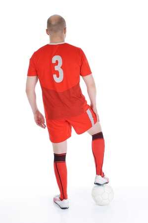 Footbalplayer l with the ball Stock Photo - 9241211