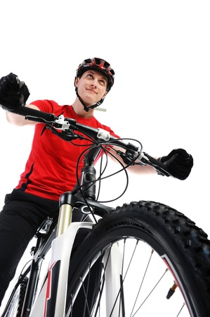 portrait of a cyclist Stock Photo - 9241219