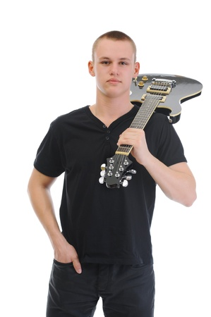 Portrait of a man with guitar Stock Photo - 9241595