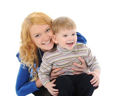 Happy mom with a child photo