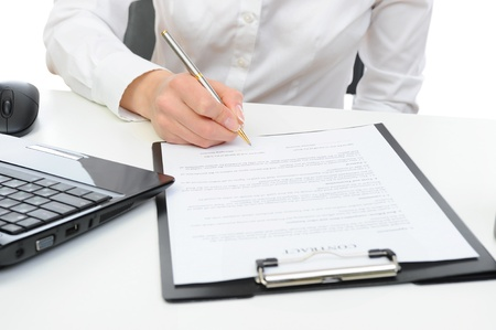 Signature of the contract Stock Photo - 9241746