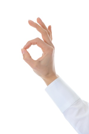 Hand OK sign Stock Photo - 9241745