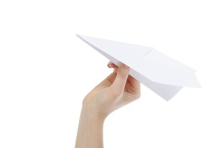 model airplane: paper plane