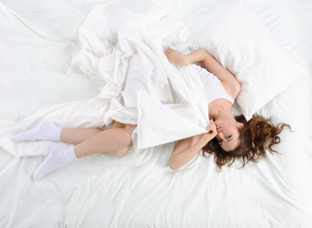 woman sleeping on the bed Stock Photo - 9292783