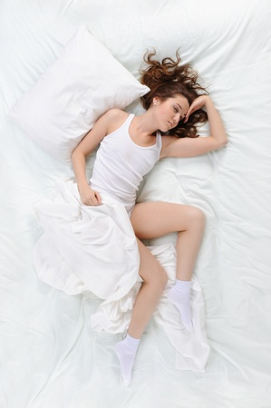 woman sleeping on the bed Stock Photo - 9292798
