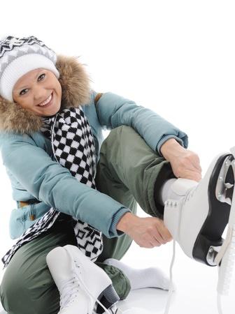 Girl with skates Stock Photo - 9292817