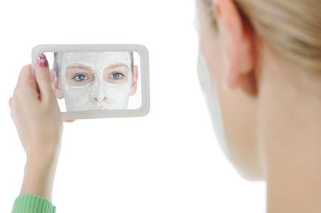 young woman making a mask Reklamní fotografie - 9292767