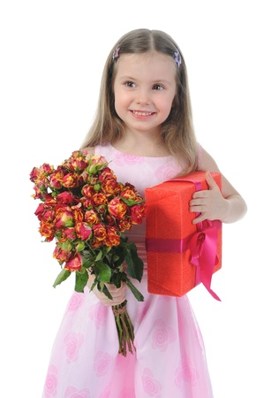 little girl with a rose. Stock Photo - 9293192
