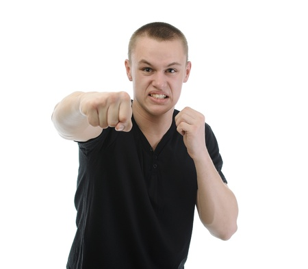 Angry man punched Stock Photo - 9293228
