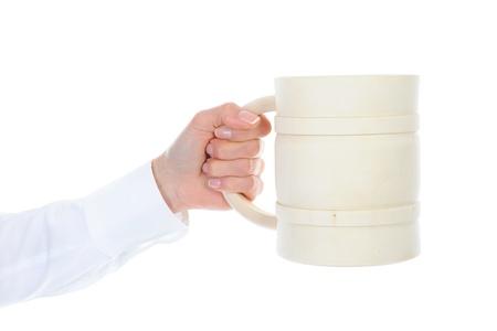 Image of a wooden beer mug Stock Photo - 9293224
