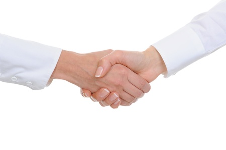 handskakning: Handshake women  business partners Stockfoto