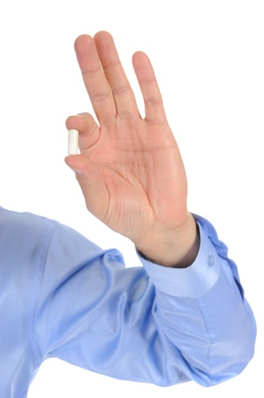 pill in the doctors hand Stock Photo - 9292830