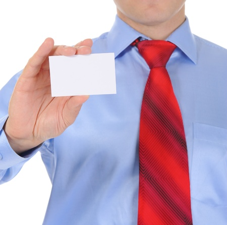 man handing a blank Stock Photo - 9292823