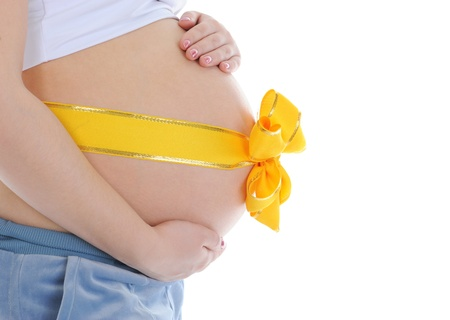 beautiful young pregnant woman photo