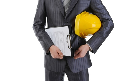 Businessman with construction helmet Stock Photo - 9319148