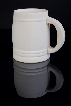 Image of a wooden beer mug photo