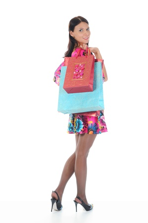 Beautiful girl with shopping bags Stock Photo - 9319746