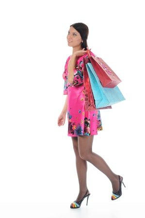 Beautiful girl with shopping bags Stock Photo - 9319745