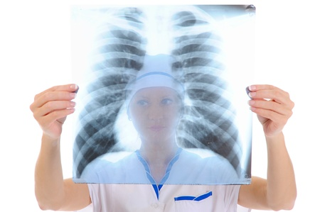 Doctor holding an x-ray Stock Photo - 9359094