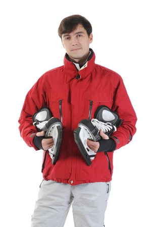 man with skates photo