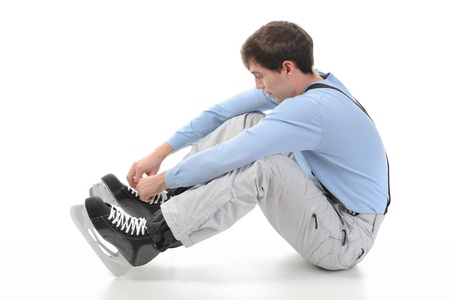 man with skates Stock Photo - 9359091