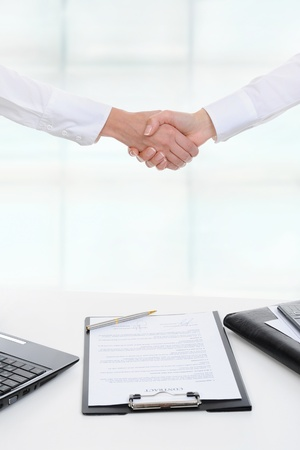 Handshake of two business partners Stock Photo - 9368910