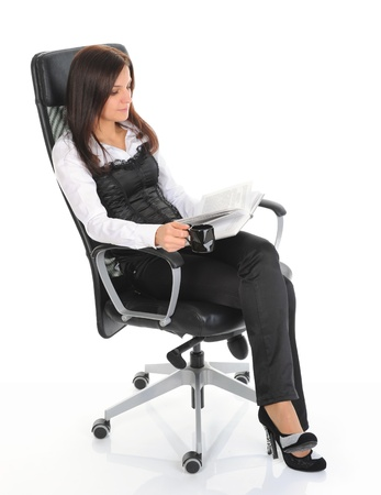 young woman sitting on a chair Stock Photo - 9368894