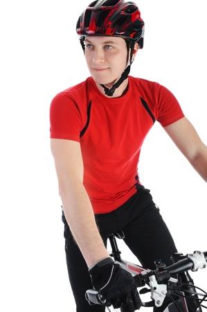 portrait of a bicyclist photo