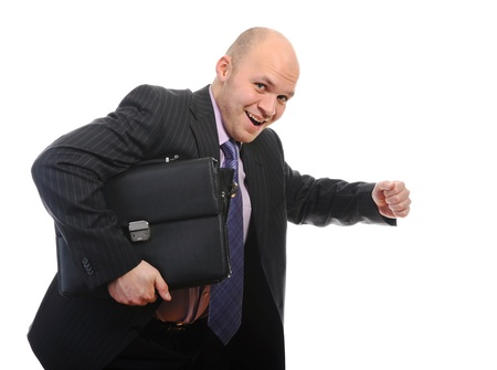 Businessman with portfolio. photo