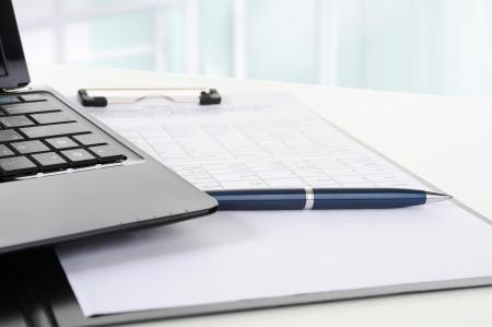 financial paperwork: Clipboard