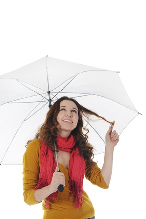 Image of a businessman with umbrella Stock Photo - 9368903