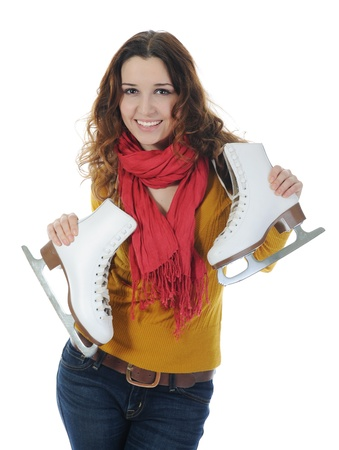 Girl with skates photo