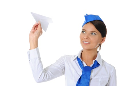 air hostess: Attractive stewardess
