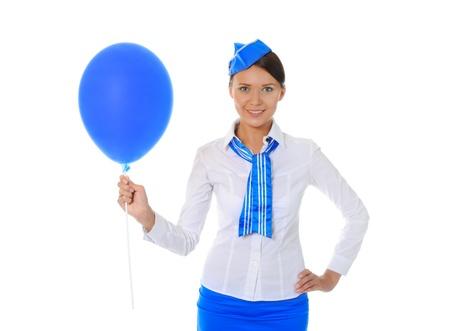 Attractive stewardess Stock Photo - 9951915