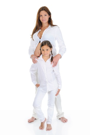 pregnant woman with her daughter Stock Photo - 9951916