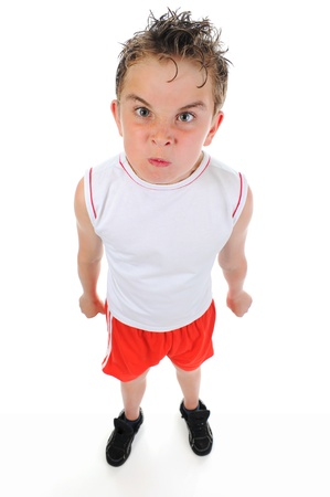 Angry little boy Stock Photo - 9951921