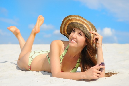 beautiful woman on the beach Stock Photo - 9952199