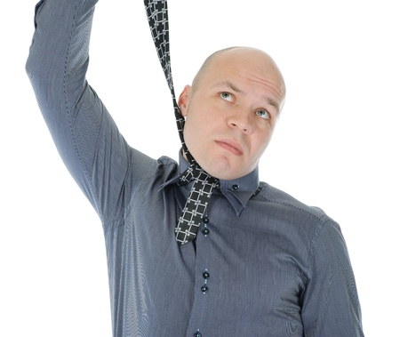 businessman hanged himself in a tie Stock Photo - 9952207