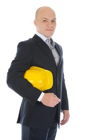 Businessman with construction helmet Stock Photo - 9952352