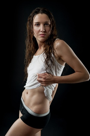 Athletic young woman photo