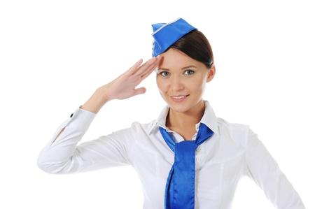 Attractive stewardess Stock Photo - 9951951