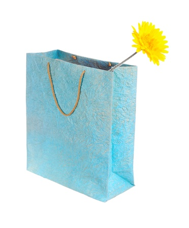 yellow flower in a bag photo