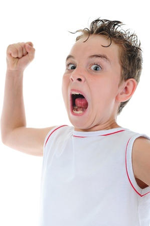 Angry little boy Stock Photo - 9951958