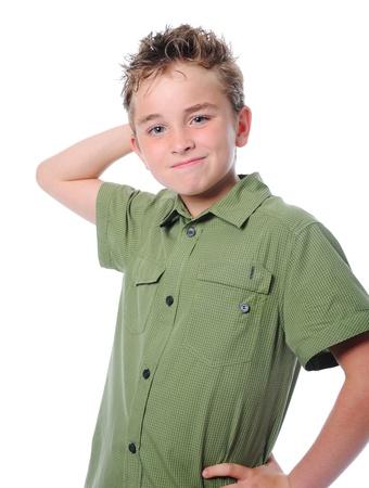 Portrait of emotionally boy. Stock Photo - 9952226
