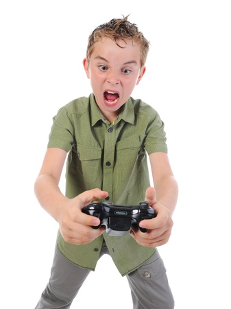 anger kid: funny boy with a joystick