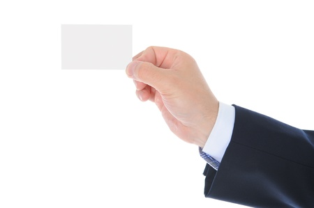 man handing a blank Stock Photo - 9952008