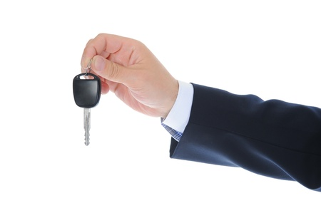 Businessman gives the keys to the car Stock Photo - 9952007