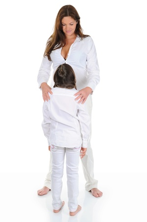 pregnant woman with her daughter Stock Photo - 9952431
