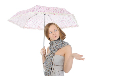 Image of a woman with umbrella Stock Photo - 9952022